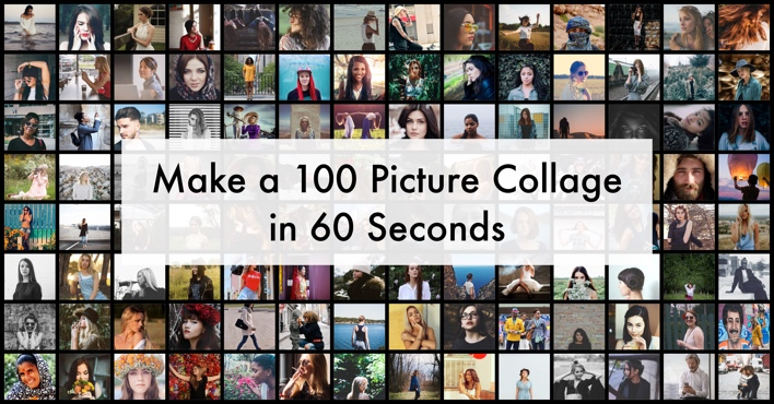free online photo collage templates - make a 100 photo collage in 60 seconds turbocollage